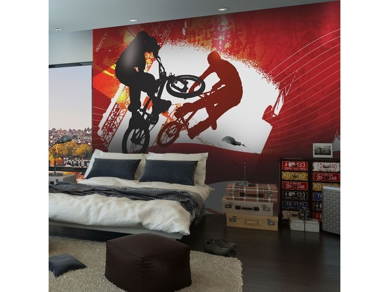 papier peint ados bmx conforama. Black Bedroom Furniture Sets. Home Design Ideas