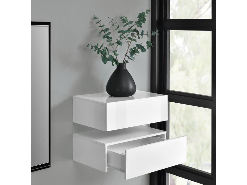en.casa]® 2 étagères murales pour chambre à coucher avec 2 ...