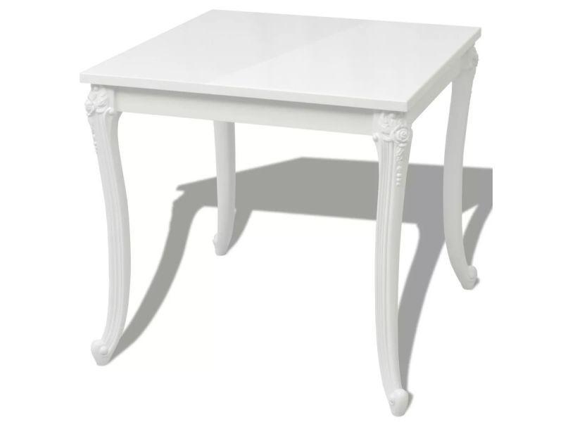 Table de salon salle à manger design 80 cm laquée blanche helloshop26 0902293