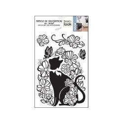 Sticker relief - 30 x 40 cm - chat