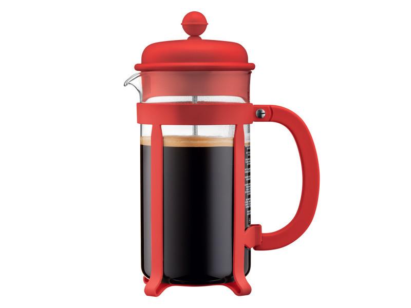 Cafetière à piston 6 tasses java rouge