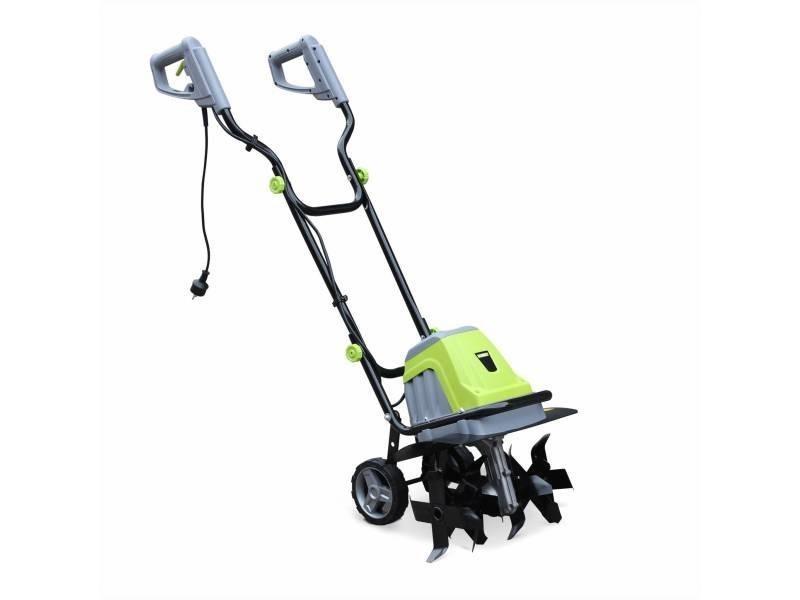 Motobineuse électrique voltr 1400w, 6 fraises et largeur de travail de 40cm, outil culture de la terre, motoculteur potager