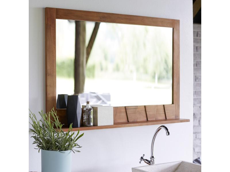 Miroir en teck icone 100x70 vente de miroir de salle de - Miroir salle de bain conforama ...