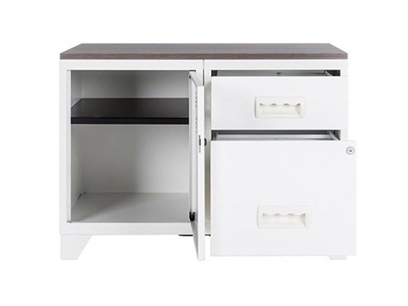 meuble rangement m tal 1 porte 2 tiroirs vente de pierre henry conforama. Black Bedroom Furniture Sets. Home Design Ideas