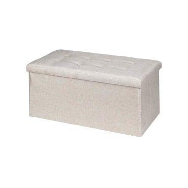 banc de rangement camila coffre avec assise rembourr e pouf capitonn bo te bout de lit. Black Bedroom Furniture Sets. Home Design Ideas