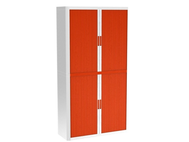 Armoire de bureau métalique porte coulissante - hauteur 2m