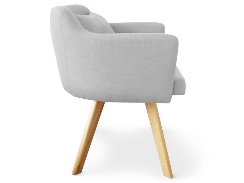 chaise fauteuil scandinave dantes tissu gris vente de menzzo conforama. Black Bedroom Furniture Sets. Home Design Ideas