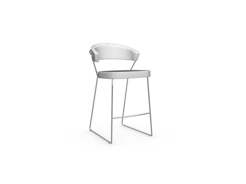 Chaise de bar new york design italienne revêtement polyuréthane façon cuir blanc 20100841571