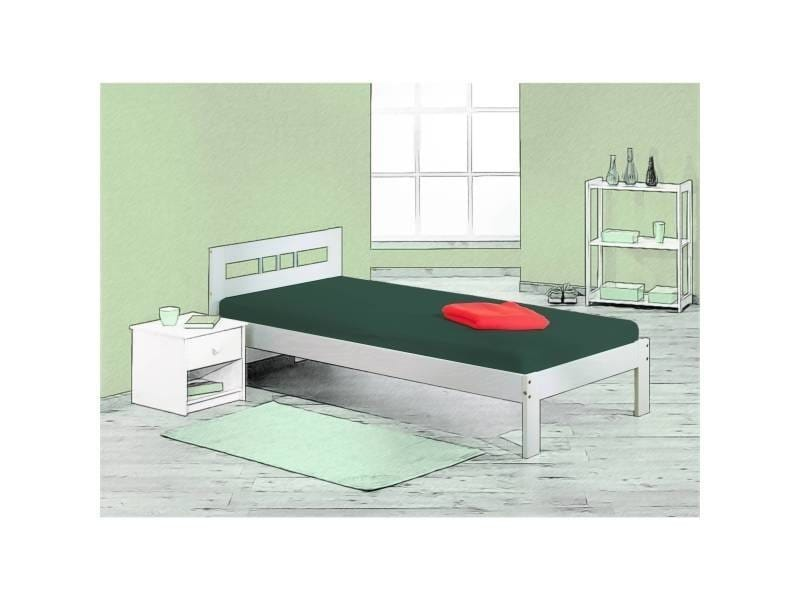 Lit simple 90x200 cm lit une place lit pas cher adulte junior et ...
