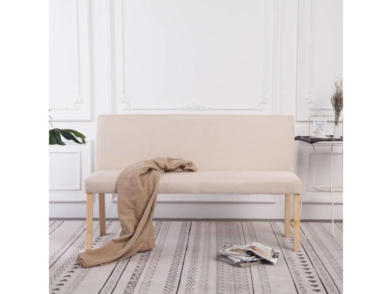 Superbe bancs gamme santiago banc 139,5 cm crème polyester