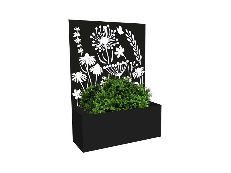 Jardinière avec treillis motif floral
