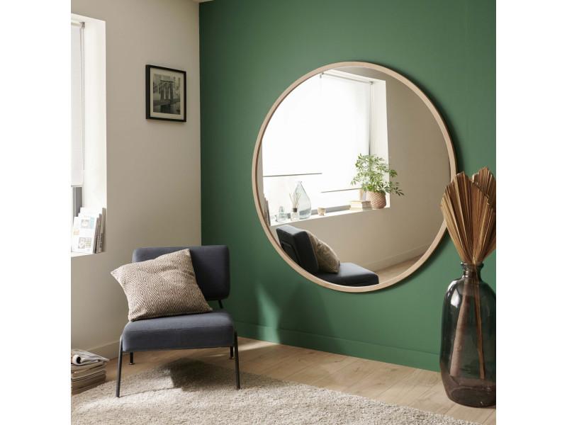 Miroir mural rond en chêne naturel diamètre 150 cm - fab