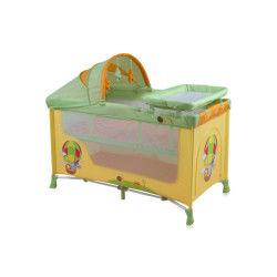 Lit parapluie bébé / lit pliant à 2 niveaux nanny 2+ lorelli orange