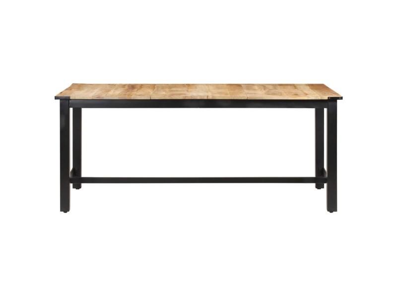 Vidaxl table de salle à manger 180x90x76 cm bois de manguier brut 287436