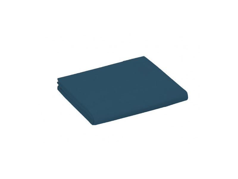 Drap plat 100% coton / 57 fils/cm² - couleur: linge marine-linge marine$bleu - tailles linge de lit: 240 x 300 cm