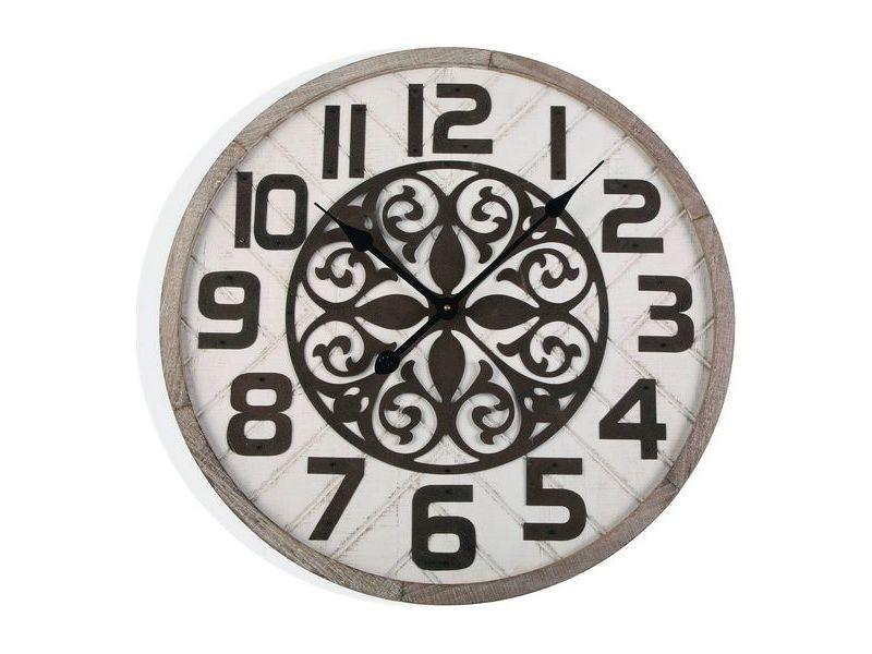 Horloges murales et de table admirable horloge murale bois mdf/métal (4,5 x 60 x 60 cm)