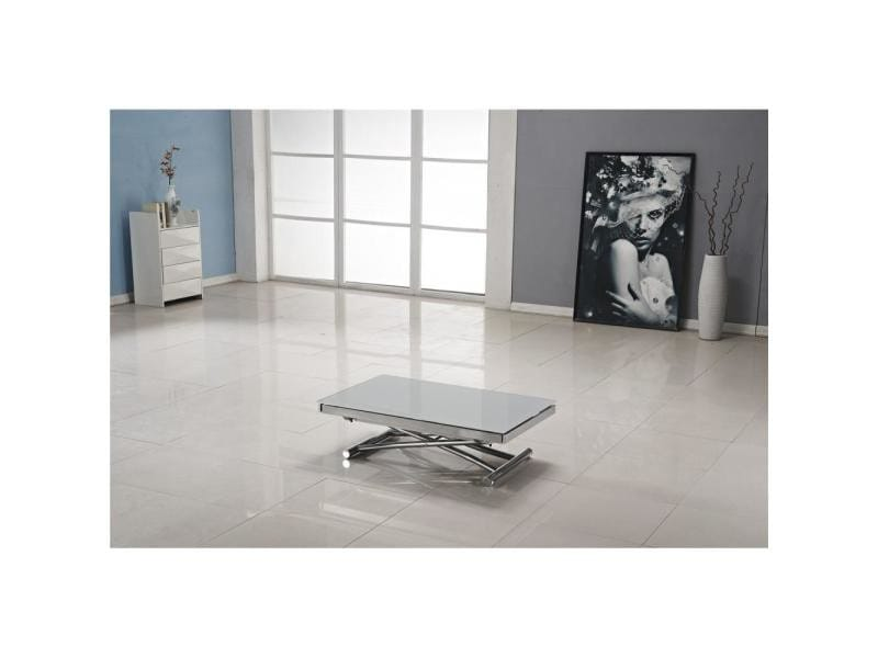 Table basse jump extensible relevable grise 20100847585 vente de table basse conforama - Table grise conforama ...