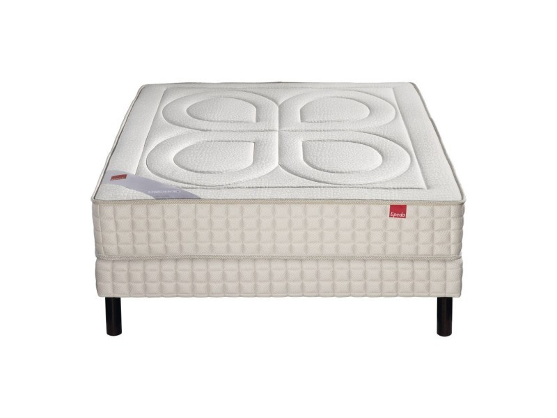 Ensemble epeda bambou 600 ressorts confort medium 160x200 avec 2 sommiers