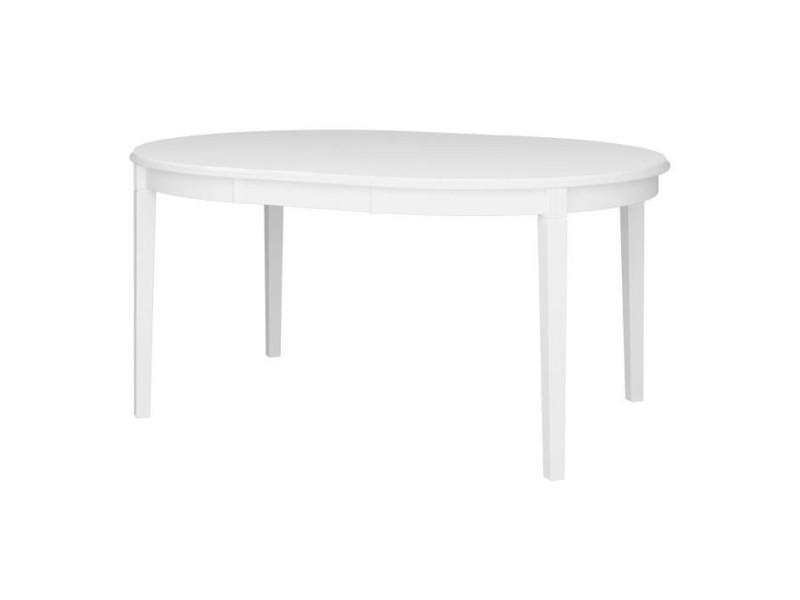 Venice table ronde avec 1 allonge - laque blanc - l 120/160 x p 120 x h 75,7 cm 4034250058000F