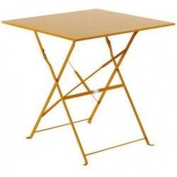 Table de jardin pliante camarque - 70 x 70 cm - orange
