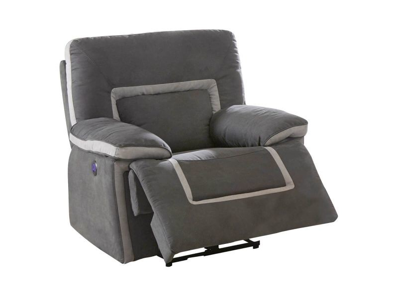 Ariana - fauteuil relax electrique anthracite