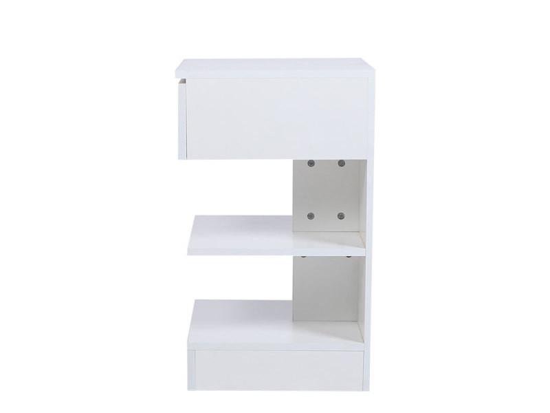 Table de chevet hombuy de style minimaliste scandinave blanc
