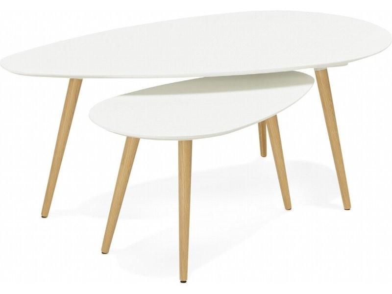 Table gigogne design gosmi CT00430WH