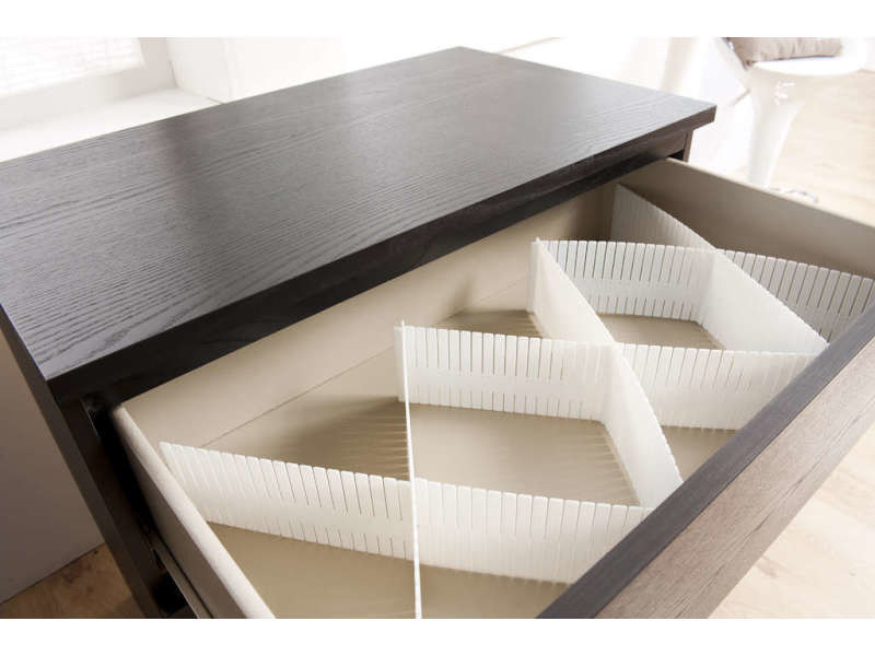 organisateur de tiroir free blanc vente de compactor conforama. Black Bedroom Furniture Sets. Home Design Ideas