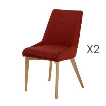 Lot de 2 chaises rouge olet Vente de Chaise Conforama
