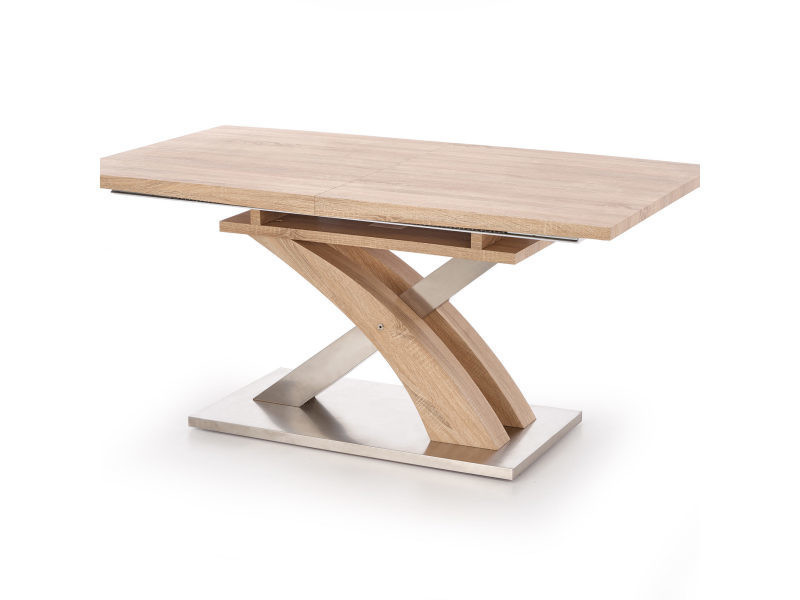 Table a manger design extensible 160 220 90 75 cm chene - Table salle a manger extensible conforama ...