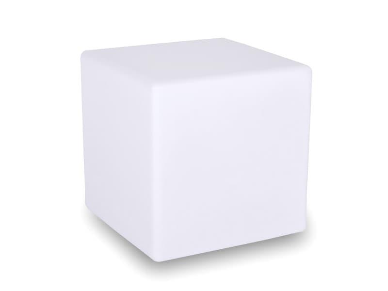 Cube lumineux cube en polyéthylène blanc
