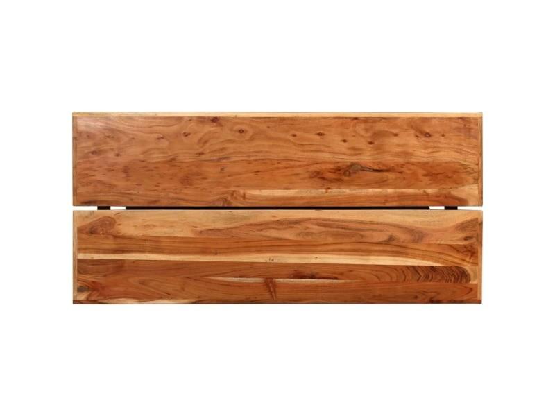 Vidaxl table de bar bois massif d'acacia 150x70x107 cm 245437