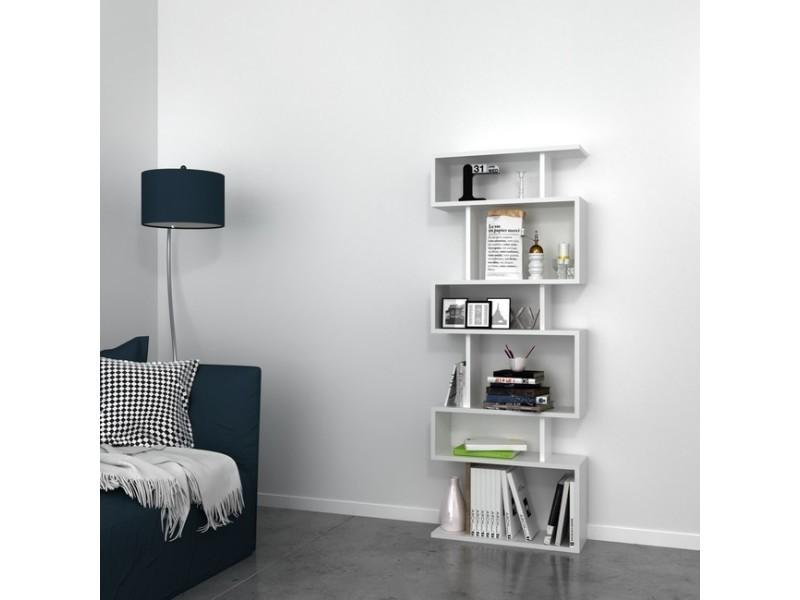 Bibliothèque tablero moderne blanc - pour séjour, chambre ...