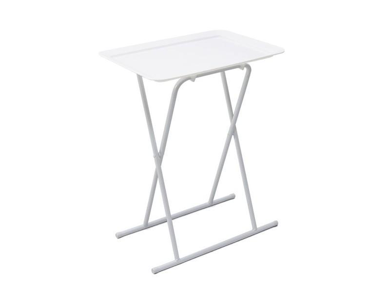table basse pliable pure design breakfast blanc vente. Black Bedroom Furniture Sets. Home Design Ideas