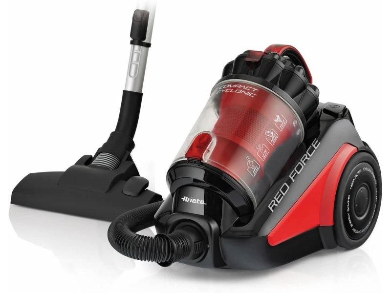 Aspirateur sans sac de 2,5l red force 700w rouge noir