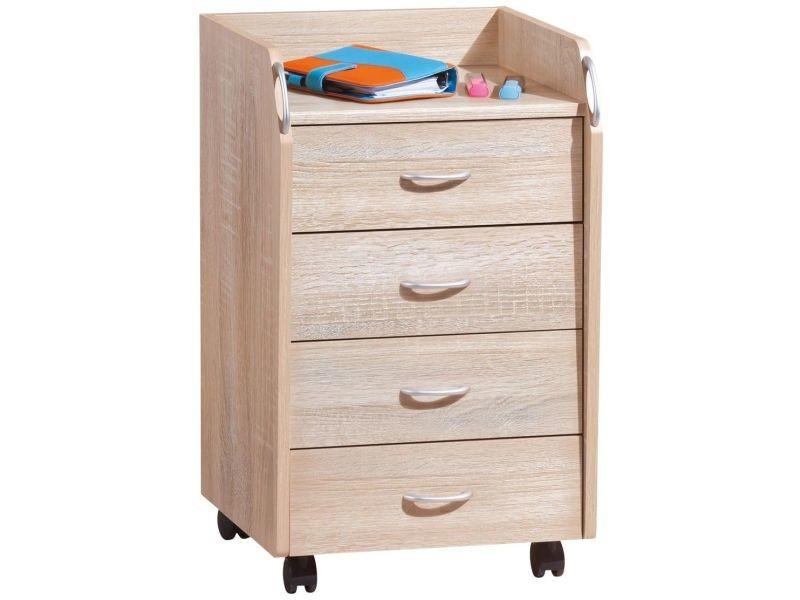 caisson de bureau sur roulettes 4 tiroirs p 844 co sally vente de comforium conforama. Black Bedroom Furniture Sets. Home Design Ideas