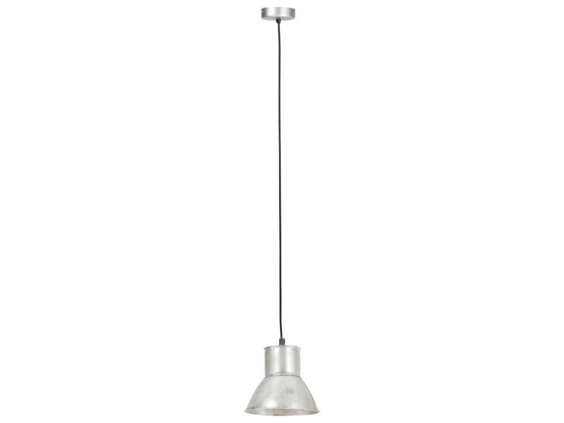 Vidaxl lampe suspendue 25 w argenté rond 17 cm e27 320571