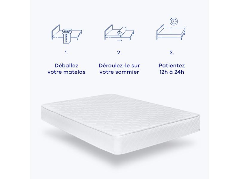 hypnia matelas bien tre 160 x 190 cm vente de hypnia conforama. Black Bedroom Furniture Sets. Home Design Ideas