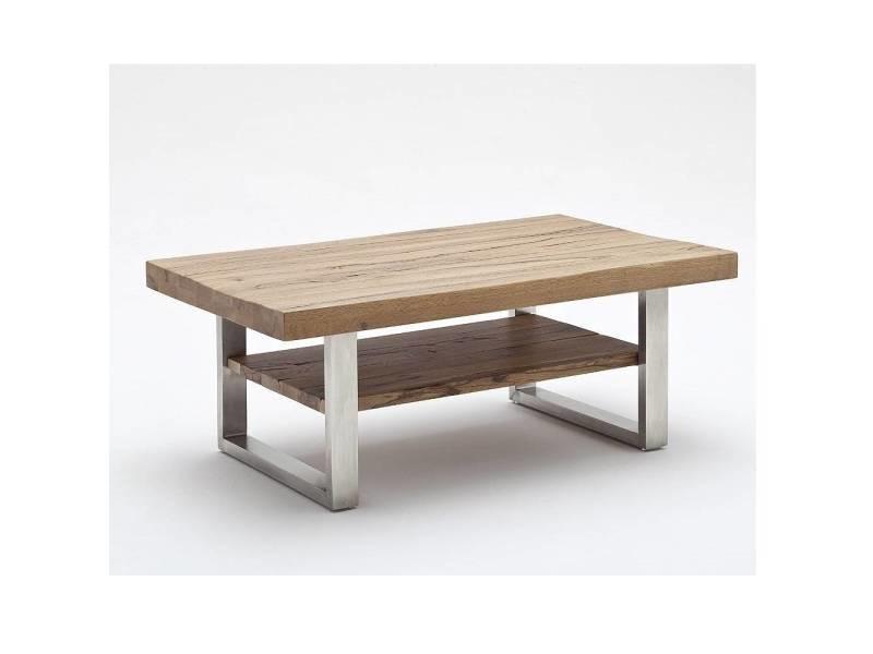 métal cabries en chêne Table bassano et basse laqué bois de mwvN08n