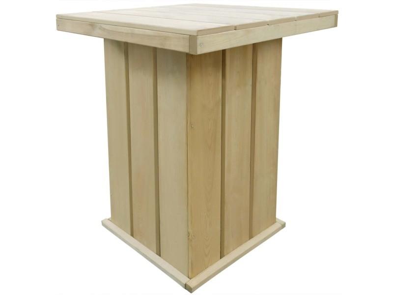 Icaverne - ensembles de meubles d'extérieur gamme meuble d'extérieur 5 pcs 75x75x110 cm bois de pin imprégné fsc