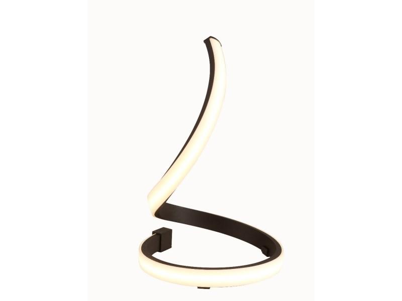 Lampe nur de table marron oxydé 15w led 2800k, 1200lm, acrylique givré/marron oxydé