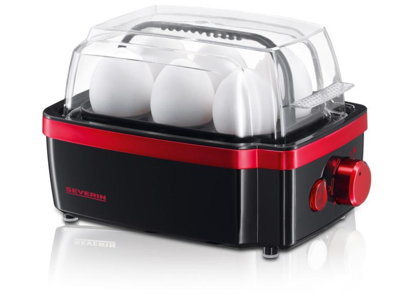 Severin - ek3156 - cuiseur à oeufs noir et rouge