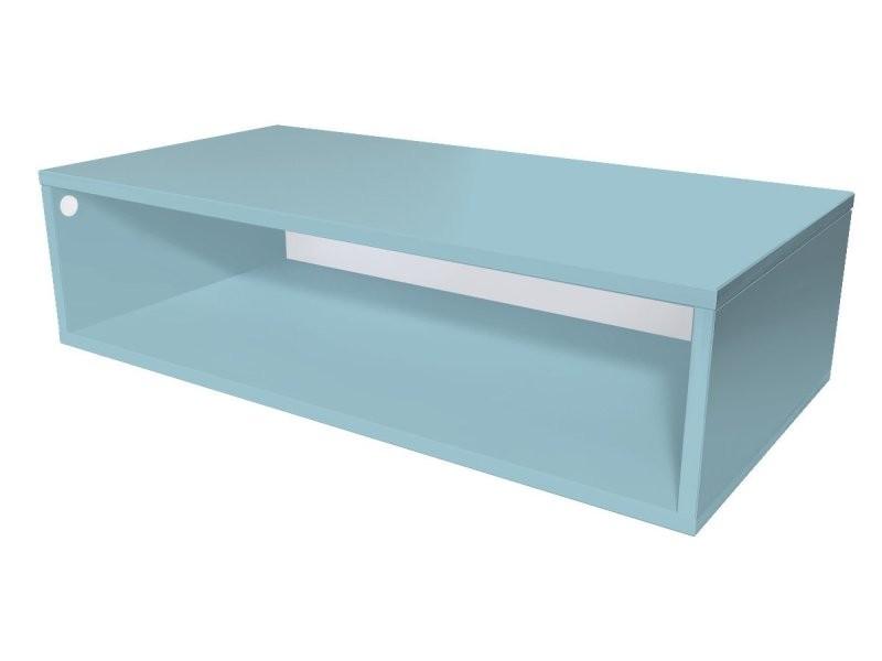 Cube de rangement bois 100x50 cm bleu pastel CUBE100-BP