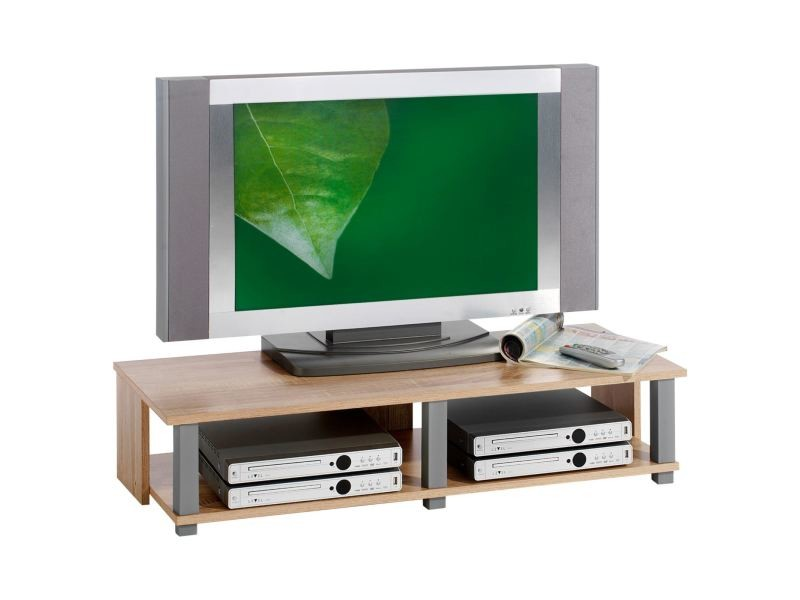 meuble tv bas gero mdf d cor ch ne sonoma vente de meuble tv conforama. Black Bedroom Furniture Sets. Home Design Ideas