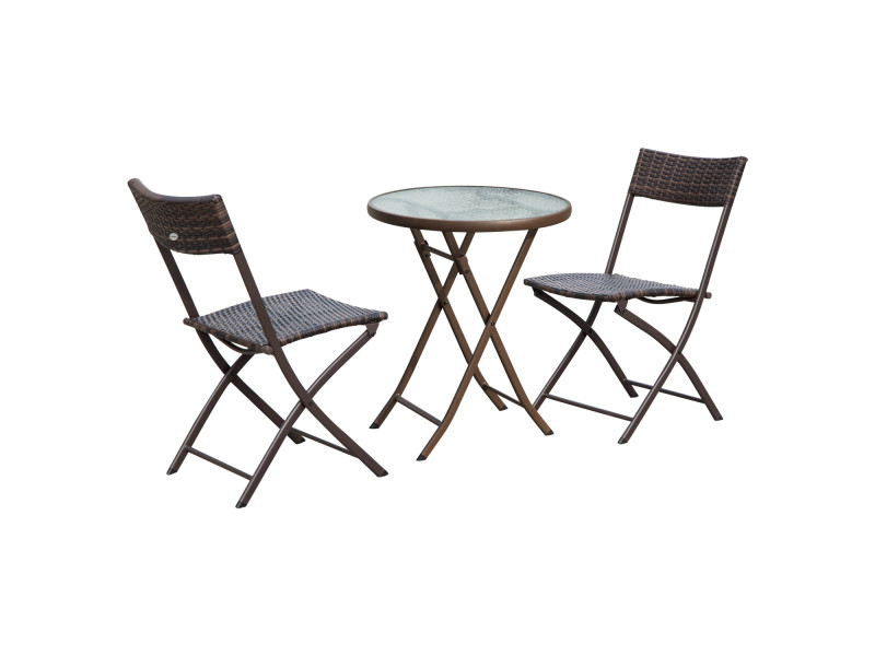 Places Table Ensemble 2 Salon De Pliable Jardin Ronde Verre Plateau D29WEIYH