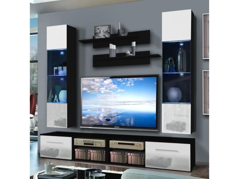 Paris Prix Meuble Tv Mural Invento Vi Twin 240cm Blanc