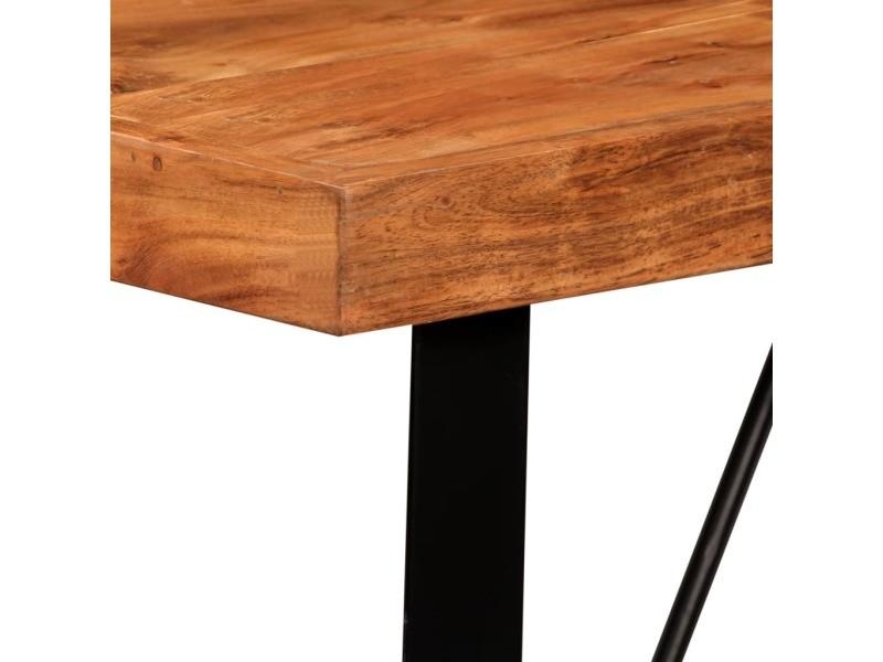 Vidaxl table de bar bois massif d'acacia 120x60x107 cm 245436