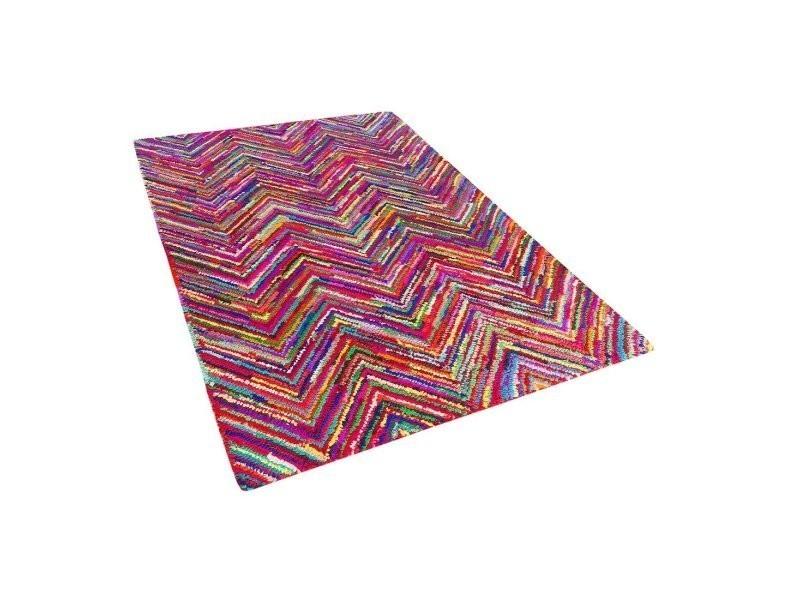 Tapis Multicolore 140 X 200 Cm Karasu 38795 Vente De Beliani