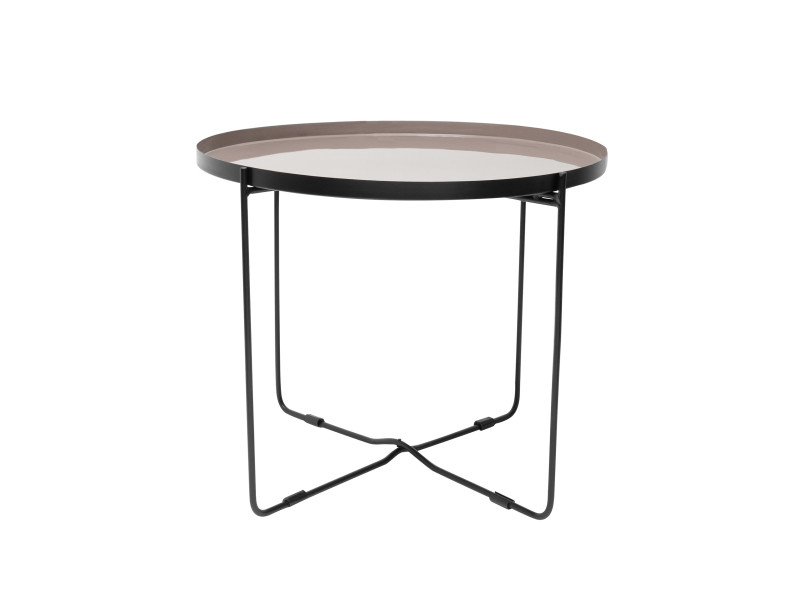 Table basse ronde hisor taupe