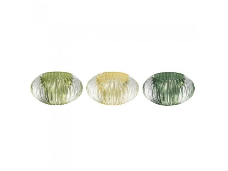 Photophores verre vert mix small